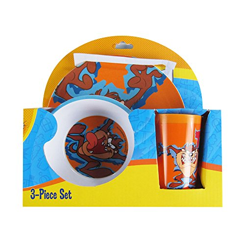 RSquared Officially Licensed Looney Tunes Melamine Dinnerware Plate Bowl Cup Set - Taz