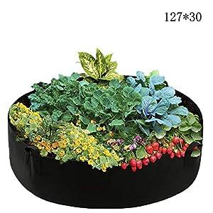 Bolsa de Cultivo de Plantas, Respirable Macetas de Fieltro Envase para Patatas Tomates Zanahoria Flores Verduras Suministro de Aire Suficiente (127x30)