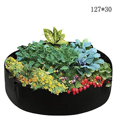 Sacs à Plantes Sac de Plantation Jardin Respirant Pots de Jardinière en Feutre pour Pommes de Terre Tomates Carotte, Alimentation en Air Suffisante (127x30)