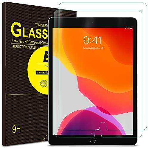ELTD Bildschirmschutz für iPad 7 (10,2 Zoll, Modell 2019, 7. Generation) / iPad Air 3/iPad Pro 10.5, 2.5D, 9H Festigkeit, gehärtetes Bildschirmfolie Schutzglas (2 Stück)