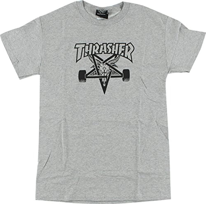 Thrasher Magazine sk8goatグレーメンズ半袖Tシャツ?–?ミディアム
