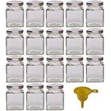 Viva Haushaltswaren - 18 x kleines Marmeladenglas / Gewürzglas 106 ml mit silberfarbenem...