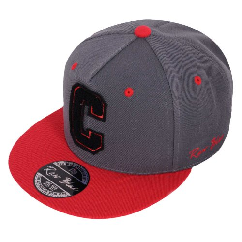 Raw Blue Letterpatch-Snapback C in Grey / Red