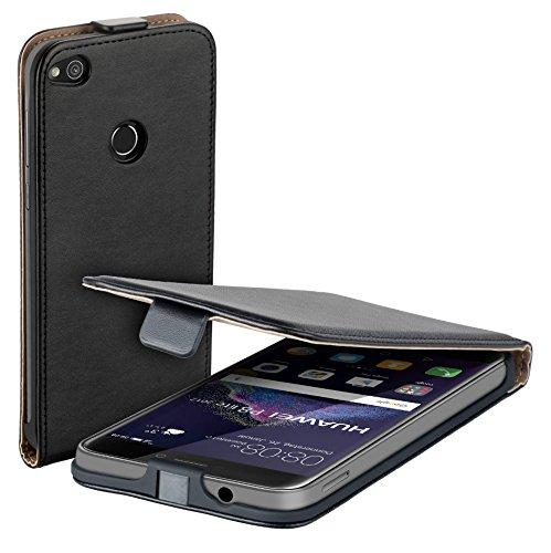 yayago Flip Tasche für Huawei P8 Lite 2017 Hülle Flip Hülle Schwarz