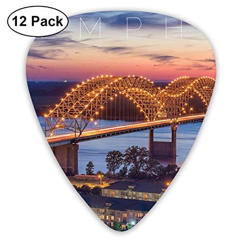 Memphis - Púas para guitarra acústica, eléctrica, bajo, ukelele