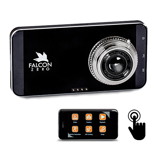 Falcon Zero Touch PRO HD Dash Cam [TOUCH SCREEN] 1080p 24/7 Surveillance, Multi Vehicle Use, 32 GB...