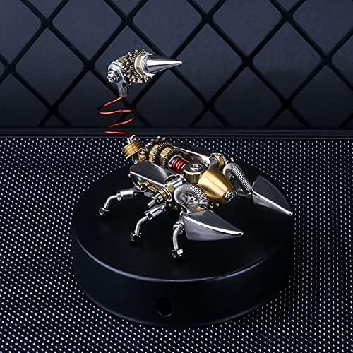 Rompecabezas de metal 3D 2 piezas 1 juego de bricolaje mecánico insecto metal desierto escorpión Asamblea modelo fresco arte decoración creativo modelo