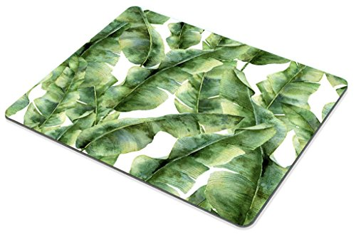 Smooffly Custom Extended Mouse pad,Tropic Plant Watercolor Banana Palm Leaves Mouse Pad Personality Desings Gaming Mousepad Photo #5