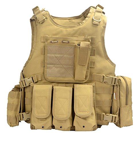 Yakeda® Vest-322 Gilet tactique Style militaire Idéal pour les fans de cosplay de Counter Strike,...