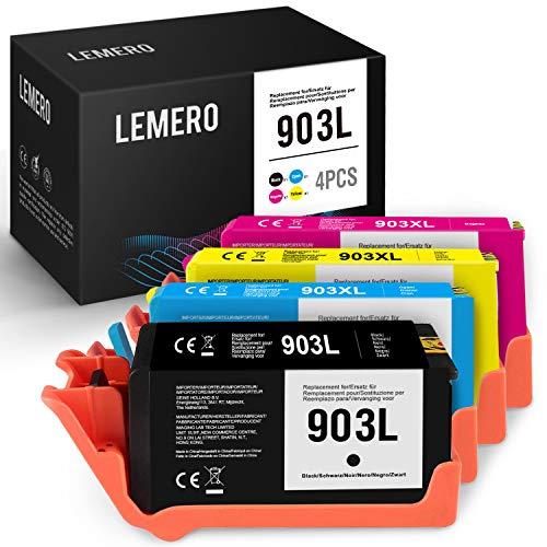 LEMERO 903 903XL Cartuccia d'inchiostro rigenerata compatibile con stampanti HP OfficeJet Pro 6950 6960 6970 6860 6868 6975 6978 All-in-One,nero/ciano/magenta/giallo