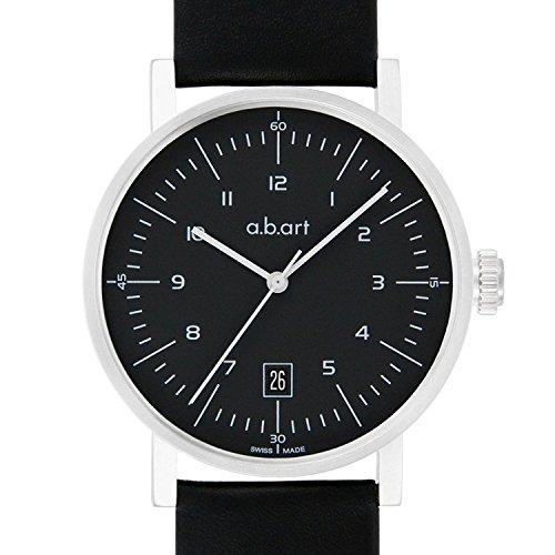 a.b.art - OA104 - Montre Homme - Automatique - Analogique - Bracelet Cuir Noir