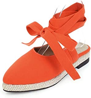 Cross Belt Sandals Cloth Flat Extra Large Size