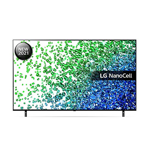 LG 50NANO806PA 50 inch 4K UHD HDR Smart NanoCell TV (2021 Model) with Fast Quad Core Processor 4K, AI Sound, Freeview Play, Prime Video, Netflix, Disney+