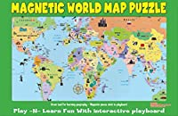 [Ataボーイ]Ata-Boy Magnetic World Map PlaynLearn Puzzle Board 19237MX [並行輸入品]