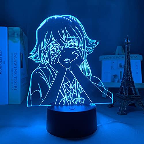 Lámpara de noche 3D para el futuro, diario LED, luz nocturna para niños, dormitorio, decoración, regalo de cumpleaños, anime, habitación, lámpara de mesa Mirai Nikki ZMSY