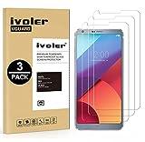 ivoler [3 Unidades] Protector de Pantalla para LG G6, Cristal Vidrio Templado Premium