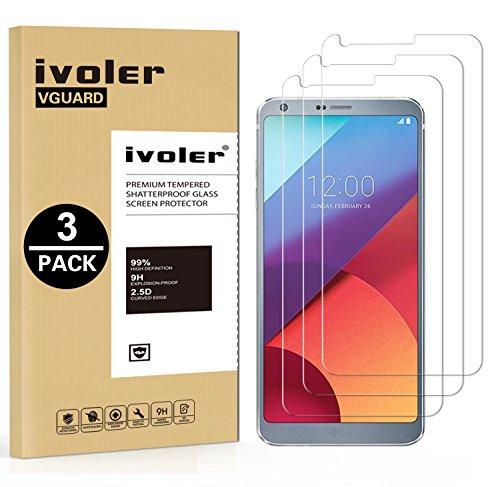 ivoler [3 Unidades] Protector de Pantalla para LG G6, Cristal Vidrio Templado...