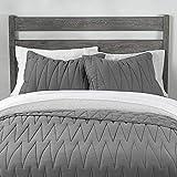 Single Ins Trent Jungenzimmer für Erwachsene Quilten aus Reiner Baumwolle Stitch Gestickte Bettdecke Winter Quilt-180 x 215_Grau