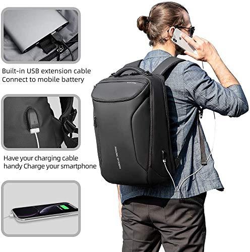 Mark Ryden Wasserdicht Laptop Rucksack mit USB 17.3 Zoll/15.6 Zoll für Männer Multifunktionsrucksack Diebstahlsicherung Tagesrucksack für Business Grosse Kapazität