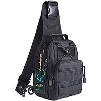 G4Free Outdoor Tactical Sling Shoulder Bag Backpack (Black)