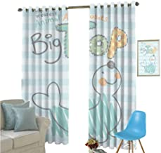 YSING Blackout Curtain Set,Text Graphics Geometry Letter,for Room Darkening Panels for Living Room, Bedroom,W84 x L84 Inch