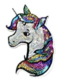 Iron on Patches#19,Unicorn Sequin Embroidered Kids Patches, Appliques and Decorative Patches, DIY Badge Patches Clothing Backpacks Jeans T-Shirt Caps Cute Patch by BossBee