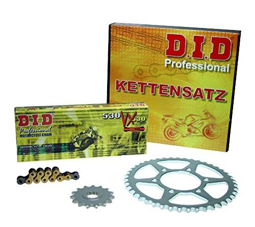 Kettensatz Kawasaki VN 800 Classic, 1996-2006, VN800B, VN800AB, DID X-Ring (VX gold) verstärkt