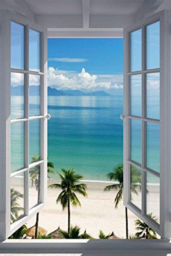 "Merchandise 24/7 Beach Window Poster (24""x36"")"