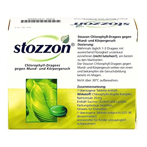 Stozzon Chlorophyll-Dragees, 100 St. Tabletten - 2
