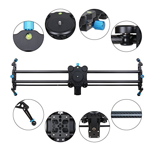 GVM Motorized Camera Slider DSLR Dolly with Automatic Looping Real Time Shooting Time Lapse Shots, Very Light Carbon Fiber 31
