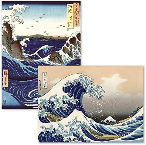 2 Pack The Great Wave Off Kanagawa by Katsushika Hokusai Stormy Sea at The Naruto Rapids by product image