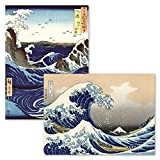 "2 Pack - The Great Wave Off Kanagawa by Katsushika Hokusai & Stormy Sea at The Naruto Rapids by Ando Hiroshige - Japanese Fine Art Wall Posters (Laminated, 18"" x 24"")"