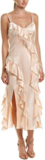 Womens Gigi Silk Midi Dress, 0, Pink