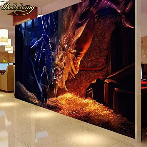 Hobbit Drachen Benutzerdefinierte Fototapeten Für Wohnzimmer Papel De Paede 3D Große Wandbild Tapete Hintergrund Tv-Bodenbelag 250X175Cm