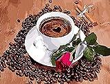 Yangfeng 1000 Piezas de Rompecabezas / Rompecabezas 3D / caf en Forma de corazn sobre la Mesa / Juguetes de Madera DIY / Juguetes educativos para Adultos / nios / decoracin de Arte de Pared