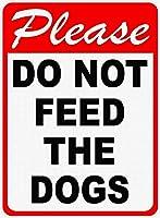 犬に餌をやらないでくださいティンサイン壁鉄の絵レトロプラークヴィンテージ金属板装飾ポスターおかしいポスター吊り工芸品バーガレージカフェホーム