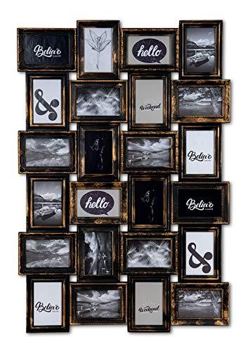 levandeo Bilderrahmen Collage 24 Fotos 10x15cm Kupfer Industrial Industrie Deko Barock Antik Wanddeko