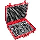 Mantona 18651 - Maletín de Exteriores para cámaras de Fotos (tamaño Grande, Resistente al Agua, Polvo y Rozaduras), Color Rojo