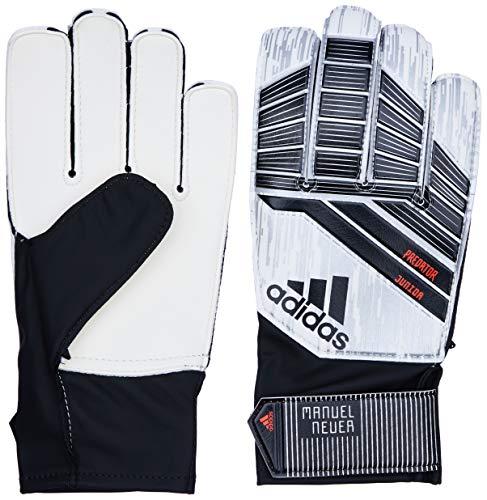 adidas Kinder Predator Junior Mamuel Neuer Torwarthandschuhe, White/Silver Metallic/Solar Red, 10