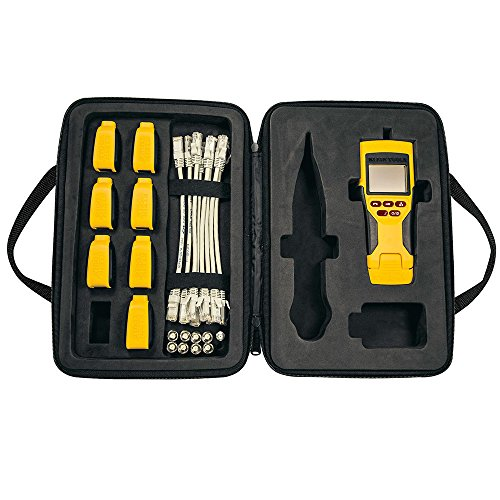 Klein Tools VDV501-826 Cable Tester Kit with VDV Scout Pro 2 LT and Test-N-Map Remote Kit Includes Remotes, F Adapters, and Case, More