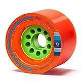 Orangatang Kegel 80 mm 80a Downhill Longboard Skateboard Cruising Wheels w/Loaded Jehu V2 Bearings (Orange, Set of 4)