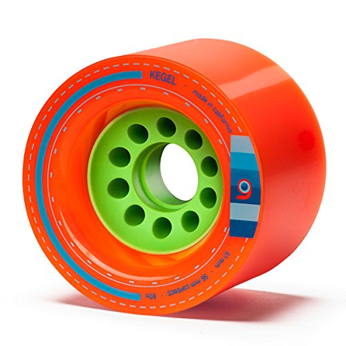 Orangatang Kegel 80 mm 80a Downhill Longboard Skateboard Cruising Wheels (Orange, Set of 4)
