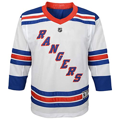 Outerstuff Youth NHL Replica Jersey-Away New York Rangers, White, Youth Large (12-14)