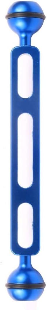 Ball Diameter Color : Blue 2.54cm Reliable 7.87 inch 20cm Aluminum Alloy Dual Balls Arm for Underwater Torch//Video Light