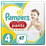 Premium Protection Pampers - Pantalones de protección (talla 4, 9 a 15 kg) 47 pañales