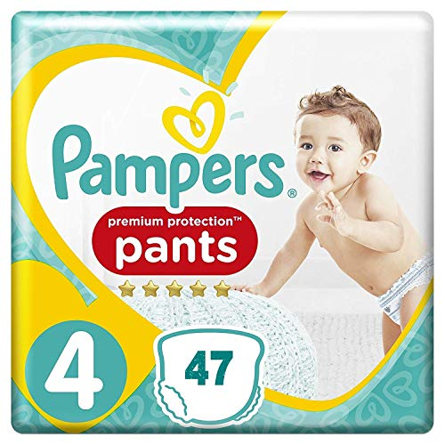 Premium Protection Pampers Pants Größe 4 (9-15 kg) 47 Windeln
