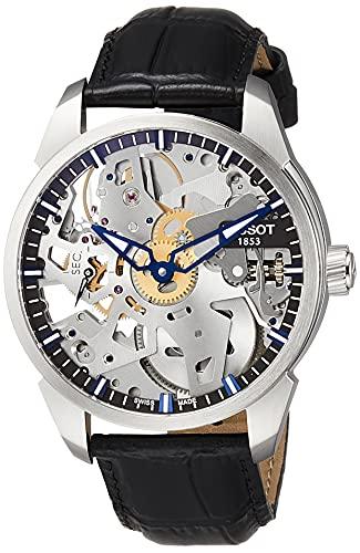 [ティソ] 腕時計 ティー コンプリカシオン スケレッテ T0704051641100 メンズ 正規輸入品 ブラック