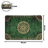 deco-mat Fußmatte Orient (40 x 60 cm, Grün) • rutschfeste und waschbare Fußmatte für außen/innen • saugstarke Schmutzfangmatte für Innen-/Außenbereich in orientalischem Design - 4