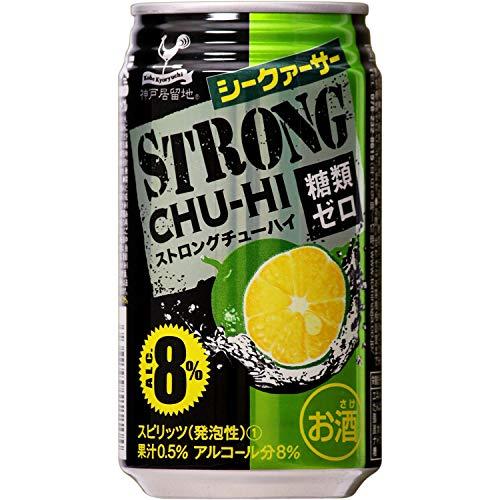 富永貿易 神戸居留地 ストロングチューハイ 糖類ゼロ シークァーサー 缶350ml