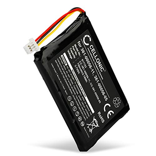 CELLONIC® GPS Ersatz Akku 361-00056-05 361-00056-11 kompatibel mit Garmin nüvi 40, 42, 52, 55, 56, 66, 68, 2689 (LM, LT, LMT) Navigationsgerät Ersatzakku 750mAh Batterie